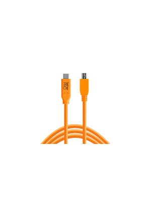 Tether Tools CUC2615ORG Pro USB-C 2.0 to Micro-B 8-Pin, 15(4,6m)