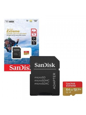 SANDISK SDHC 64GB EXTREME MICRO 100MB/S V30