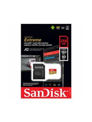 SanDisk SDXC 256GB Micro Extreme 160MB/s +SD Adap.