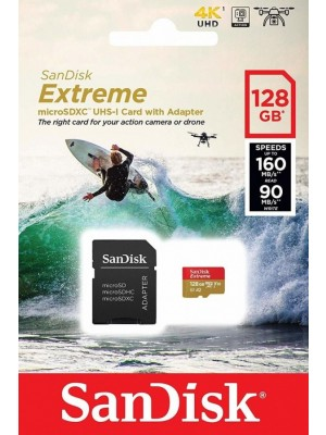 SanDisk SDXC 128GB Micro Extreme 160MB/s +SD Adap.